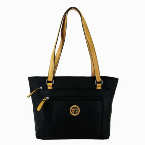 Giani Bernini Handbags - GIANI BERNINI Black Faux Leather Tote Bag$99.00